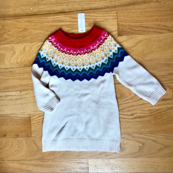 NWT GYMBOREE NORTH POLE PARTY FAIR ISLE RED GRAY CARDIGAN SWEATER SZ 3T